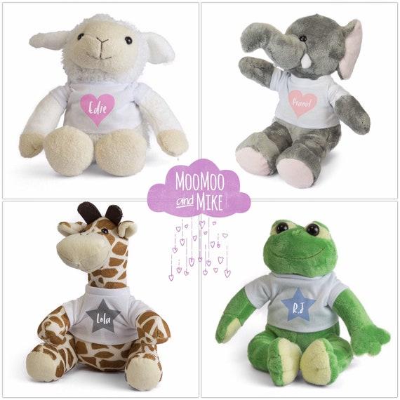 Personalised soft toy | Littke Prince - Princess | Lamb Frog Elephant or Giraffe | plush toy | Children's toys | Christening gifts
