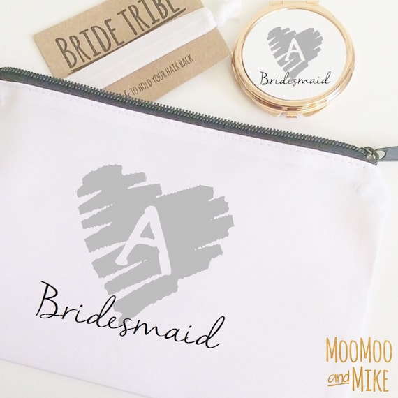 Cosmetic bag | Add any text | Make up bag | Wedding gifts | Hen party bags | Bridesmaid gifts