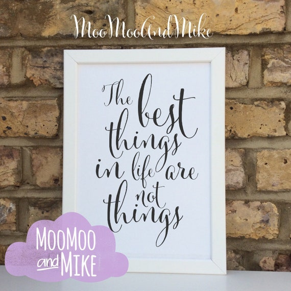 The best things in life quote print | Wall prints | Wall decor | Home decor | Print only | Typography