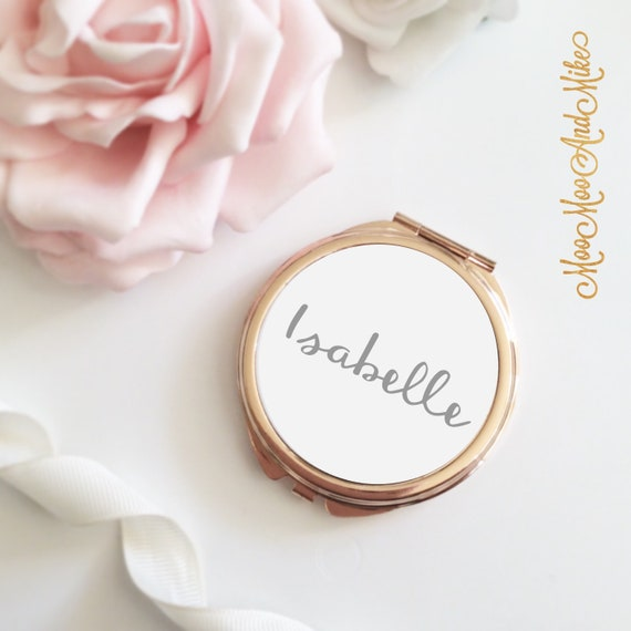 Compact Mirror | Rose gold mirror | Add any text | Women's Accessories | Pocket Mirror | Made to order