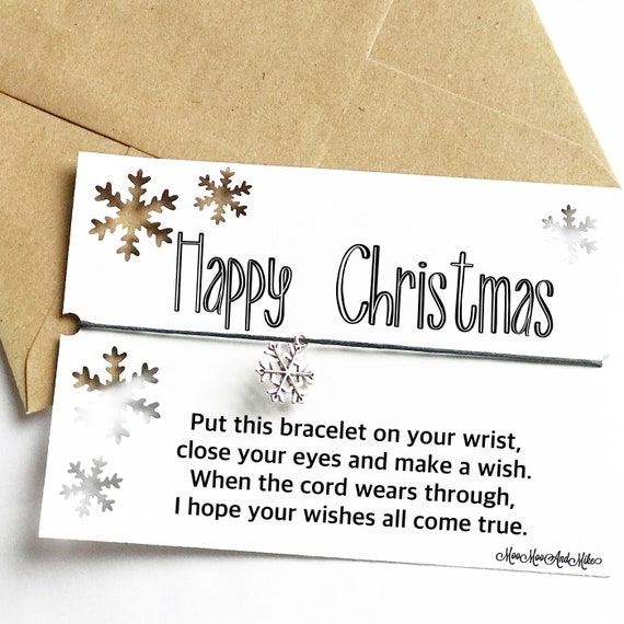 Christmas bracelet | Personalised Nice list gifts | Christmas wish | Christmas Eve box filler | Wish band | Charm bracelet