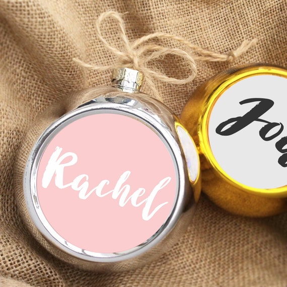 Personalised bauble | Christmas bauble | Christmas decor | Gold or sliver bauble | Christmas decor | Christmas decorations