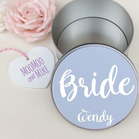 Personalised gift box | Keepsake tin | Round gift box | Add any text | Gift tin | Personalised Box | Bride gifts