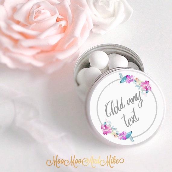 Set of 10 mint Wedding Favours  | Wedding treat favours | Personalised Wedding Favor | Mint to be | Favour tins | Love is sweet tin