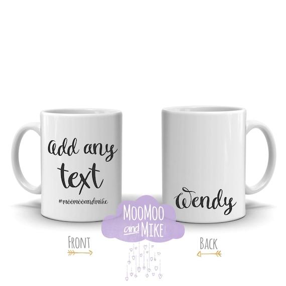 Custom mug | Add any text | Personalised mug | mugs | Custom mug