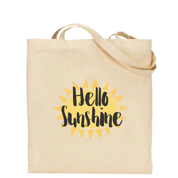 Tote bag | Hello sunshine | totes | Holiday bag's | Beach tote