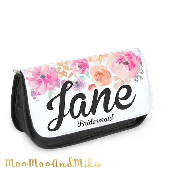 Make up bag | Add any text | Personalised Cosmetic bag | Pouch | Personalised pencil case
