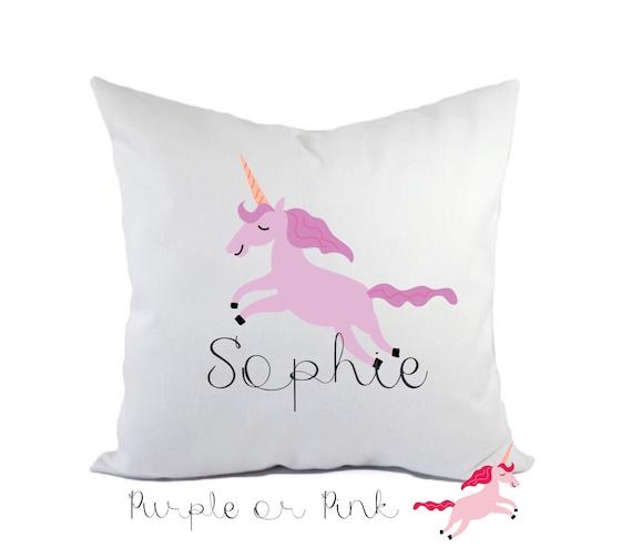 Children's Unicorn pillow | Decorative cushion cover | Children's cushion | Nursery decor | Personalised pillows | Bedroom decor