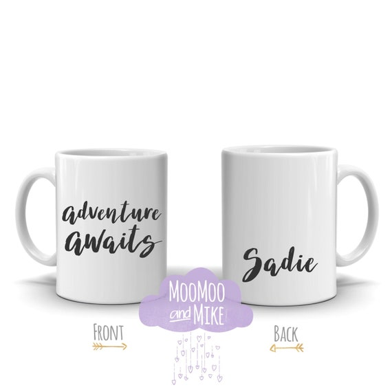 Adventure awaits personalised mug | Wedding gift | Gift ideas | Custom mug