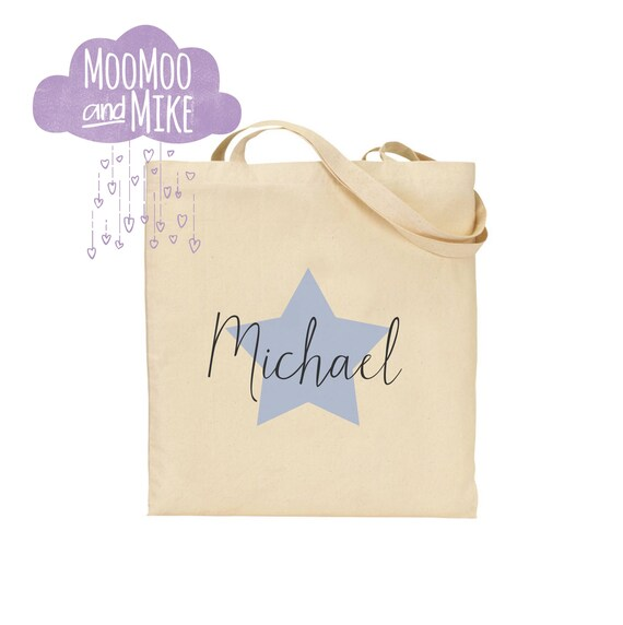 Personalised Star Design Shopper Tote Bag | Tote bag | Children's gift | Wedding gift bag's