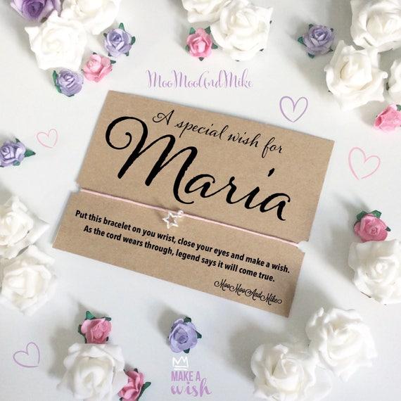 Wish bracelet | personalised wish bracelet | Bride gifts | Wish band | Charm bracelet.