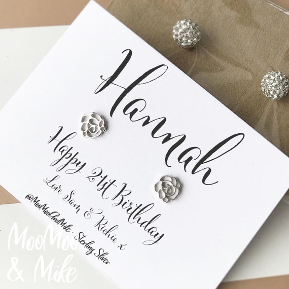 Personalised earrings | Sterling sliver earrings | Custom earrings | Bridesmaid gifts | Gifts for her | Thank you gifts | Bridal gifts