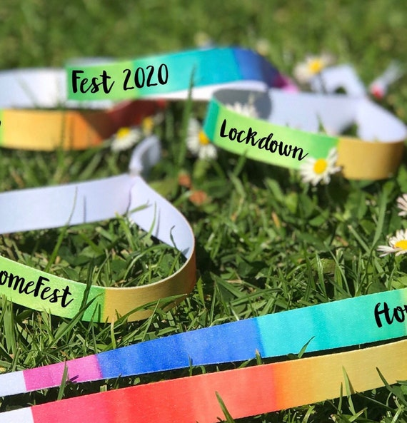 Personalised wristbands | Rainbow design | Add any text | Wedding wristbands  | Festival wristbands | Hen party wristband