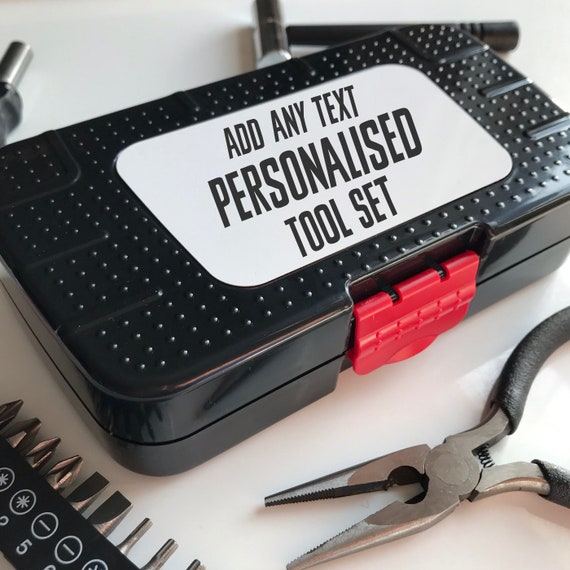 Personalised tool kit | Add any text | Small tool kit | Gifts for him | Gifts for Dads | Mini tool kit | Tool set | Tool gifts