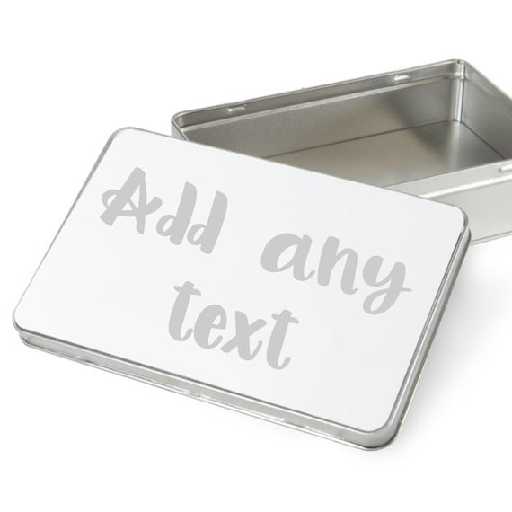 Personalised gift box | Keepsake tin | Metal gift box | Add any text | Pet treat tin | Personalised Box | Chocolate box |