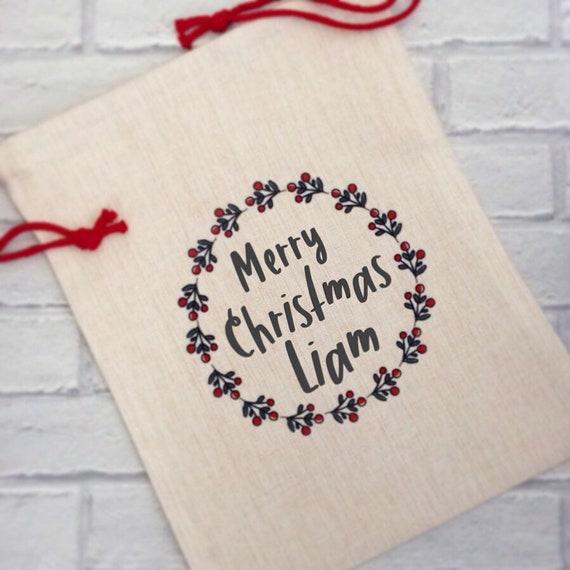 Personalised Christmas sack | Drawstring bag | Sack | Children's bag | Xmas gift bags | Christmas sack | Gift bag
