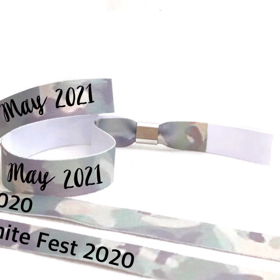 Personalised wristbands | Camo design | Add any text | camouflage wristbands  | Festival wristbands | Party wristbands