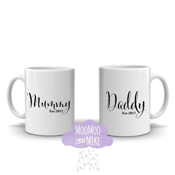 Mum & Dad est mugs | Made for anyone Auntie Nan etc | Mummy and Daddy mugs