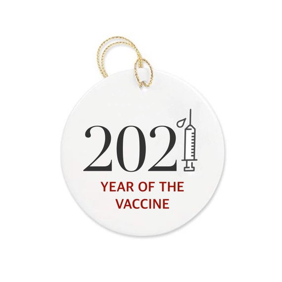 2021 year of the vaccine bauble | 2021 novelty gifts | Christmas bauble | 2021 Christmas decor | Christmas decorations