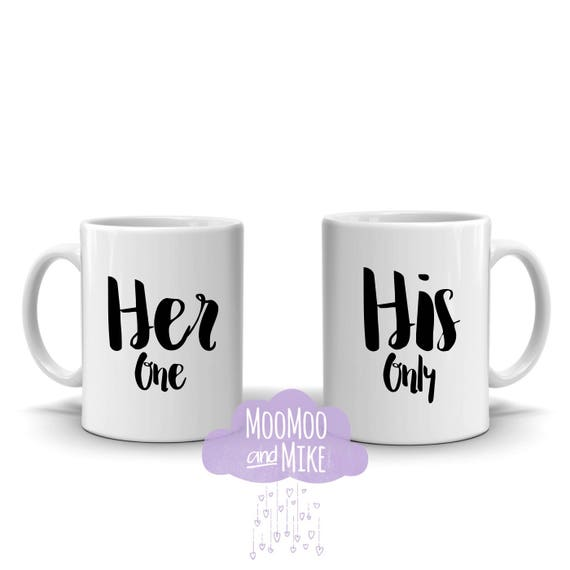 His & Hers mugs | Her one His only | Personalised mug