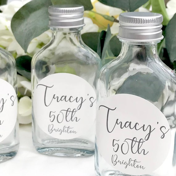 Set of 25 shot bottle favours   Fill your own favours   Shot bottle favours   Wedding favours   Shot favours