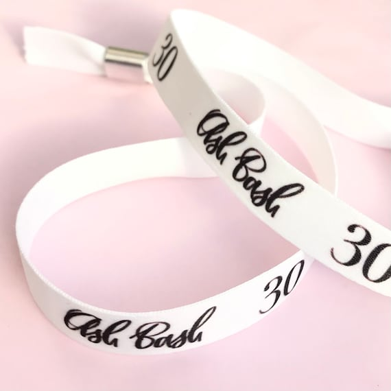 Personalised wristbands | Add any text | Wedding wristbands  | Festival wristbands | Hen party wristband | Hen favours | Party bag filler