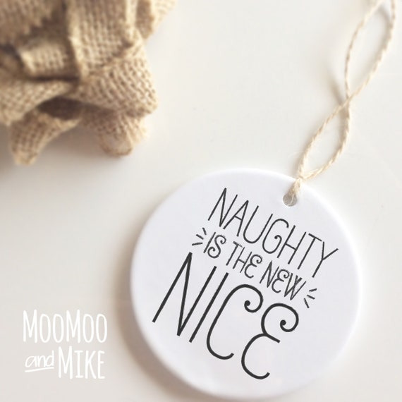Naughty is the new nice bauble | Christmas bauble | Christmas decor | Ceramic bauble | Christmas decor | Christmas decorations