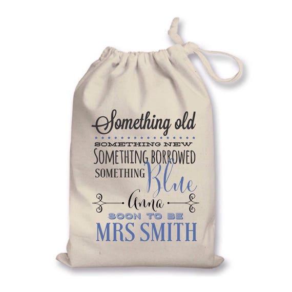 Bride's gift bag | Drawstring bags | Keepsake bag | Wedding bag | Something new something blue