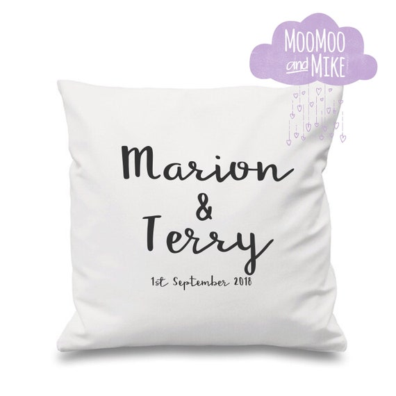 Personalised cushion cover | Couples cushion | Personalised pillows | Bedroom decor | Home decor