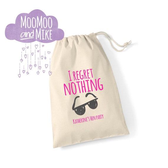 I regret nothing hangover bag | Survival kit bag | Hen party gift bag | Wedding gift bag