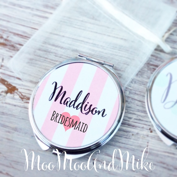 Compact Mirror | Gifts for bridal party | Women's Accessories | Pocket Mirror | Made to order