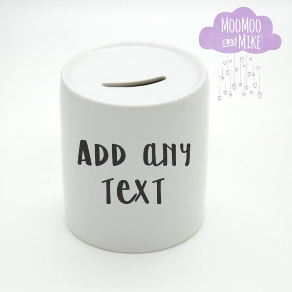 Money box | Add any text | Personalised piggy bank | Money box | Wedding fund | Honeymoon fund