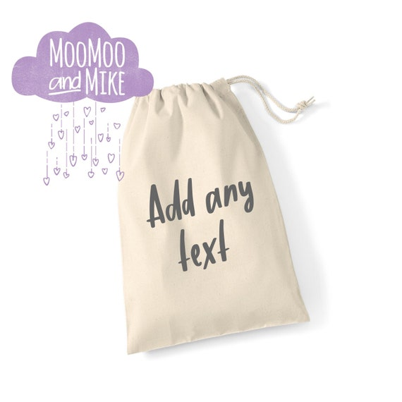 Gift bag | Add any text | drawstring bag | Mother's Day gift bag | Wedding gift bag | Hangover kit