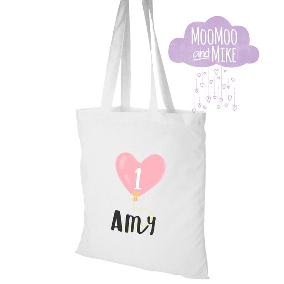 Balloon design tote bag | Personalised tote bags | Birthday bags | Baby shower Gift bags | Baby bag | Gift bags