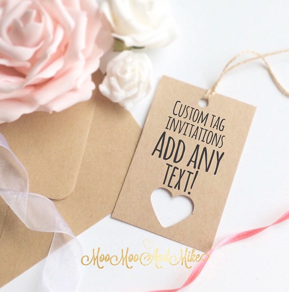 Tags | Custom tags | Save the date tags | Set of 10 | Wedding tags | Baby shower invites | Gift tags.