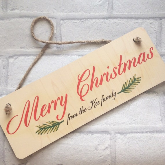 Personalised Christmas sign | Christmas hanging sign | Christmas plaque | Christmas decor | Xmas signs