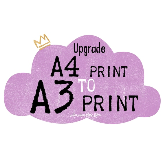 Upgrade A4 to A3 print | Home decor | prints