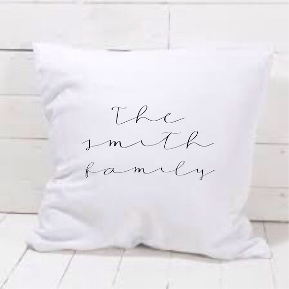 Personalised cushion cover | Couples - Family cushion | Personalised pillows | Bedroom decor | Home decor
