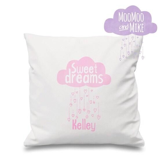 Sweet dreams pillow | Decorative cushion cover | Children's cushion | Nursery decor | Personalised pillows | Bedroom decor | Home decor