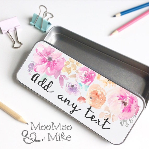 Pencil tin | Add any text | Personalised pencil tin | Teacher gifts