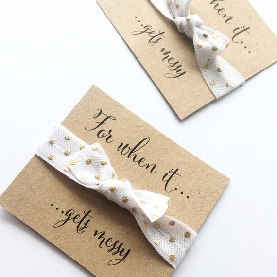 Hair ties | Customisable elastic hair tie | Add any text | Favours | Hen party favours | Personalised favours
