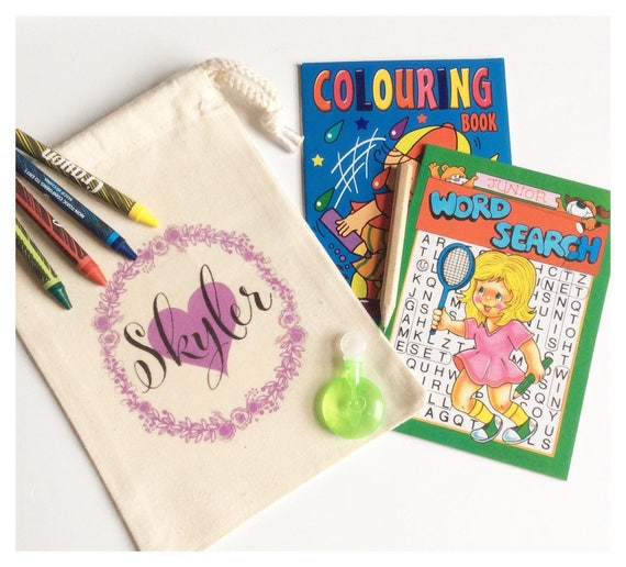 Children's activity packs | Party bags | Wedding activity pack | Favour bags | Drawstring bag