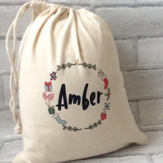 Personalised Christmas sack | Drawstring bag | Sack | Children's bag | Xmas gift bags | Christmas sack | Gift bag