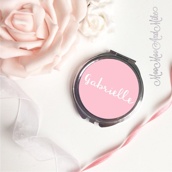 Compact Mirror | Women's Accessories | Pocket Mirror | Made to order | Bridesmaid gifts | Maid of Honour gift