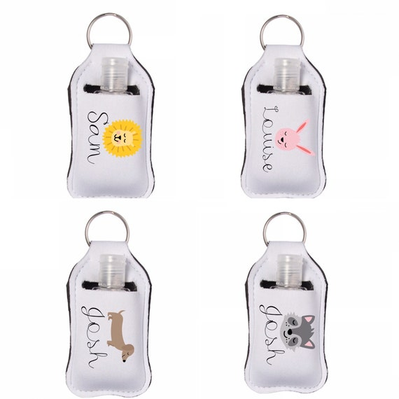 Personalised keyring pouch and bottle | pouch includes a 30ml bottle | Hand care