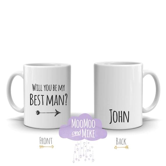 Will you be my best man   Bridesmaid, Maid of honour mug   Personalised mug   Custom mug   Wedding proposal mug