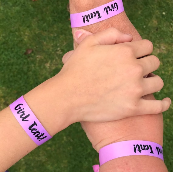 Custom wristbands | Pink & purple wristbands | Add any text | Wedding wristbands  | Festival wristbands | Party wristband | Hen favours
