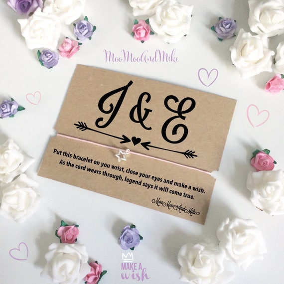 Wedding favours | wish bracelet | Wedding gifts | Bride gifts | Wish band | Charm bracelet.
