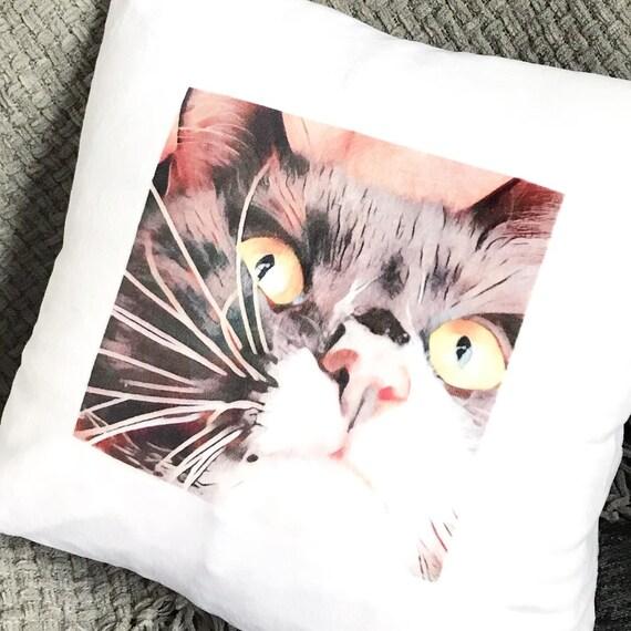 Photo cushion | Pet Portrait |Memory Cushion | Cat Painting | Dog Painting | Pet Art | Custom Pet Portrait