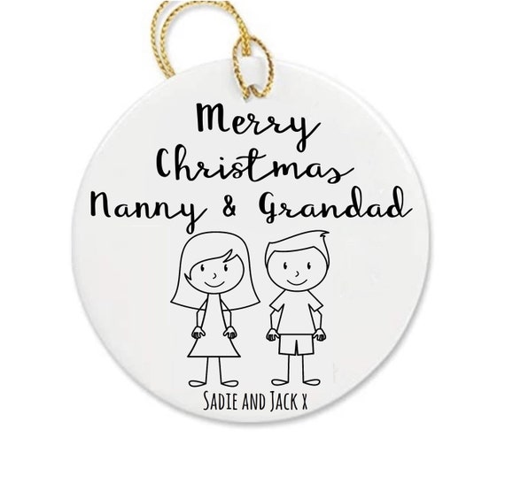 Children's Christmas bauble | Personalised bauble | Nanny, grandad bauble | Christmas decor | Christmas decorations